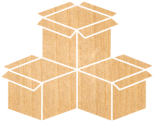 stacked open boxes icon